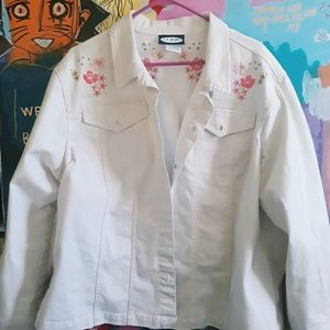 FLOWER EMBROIDED JACKET